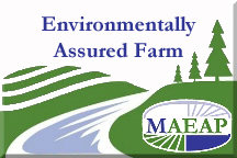 Michigan Agriculture Environmental Assurance Program logo that states Environmentally Assured Farm.