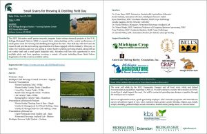 Small Graines for Brewing & Distilling Field Day Flyer